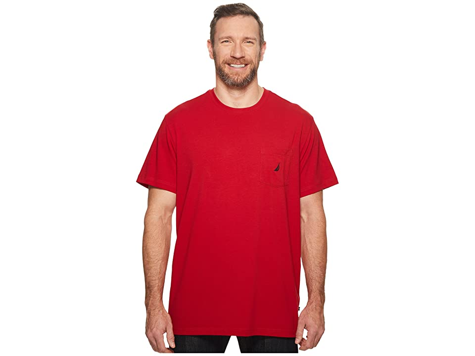 Nautica Big & Tall Big Tall Short Sleeve Anchor Pocket Tee (Nautica Red) Men