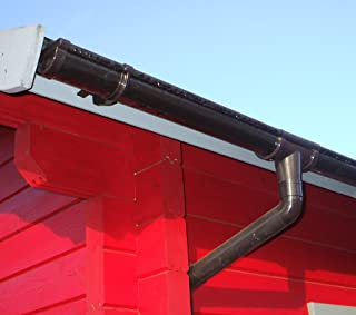 Juego de canalones para RG 80marrón 8x 350cm de 8esquinas de techo