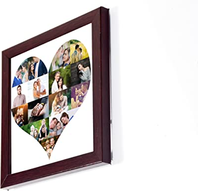 12in X 12in PERSONALISED LOVE SHAPED HEART SHAPED PHOTO FRAMED COLLAGE COLLAGE PHOTO GIFT FRAME Personalised & Customised Gifts for Him Her Family Friends Father Mother Sister Brother Couple Spouse Wife Husband Baby Girlfriend Boyfriend Valentine's Day Loved Ones Birthday Anniversary Wedding & Marriage DIWALI GIFTS NEW YEAR GIFT DUSSERA GIFT CHRISTMAS GIFT