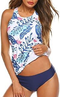 plus size racerback printed tankini swimsuit