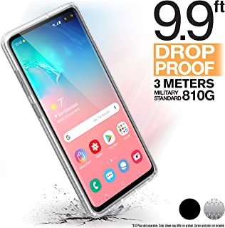 Catalyst Compatible with Samsung Galaxy S10+ Case Military Impact Resistant, Shock Proof, Drop Proof 9.9ft, Impact Truss Cushioning System, Raised Bezels, Lanyard Included - Clear