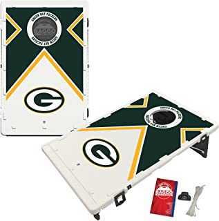 Baggo Portable All-Weather Cornhole Boards Game Set, NFL Vintage with Matching Corn-Filled Bags