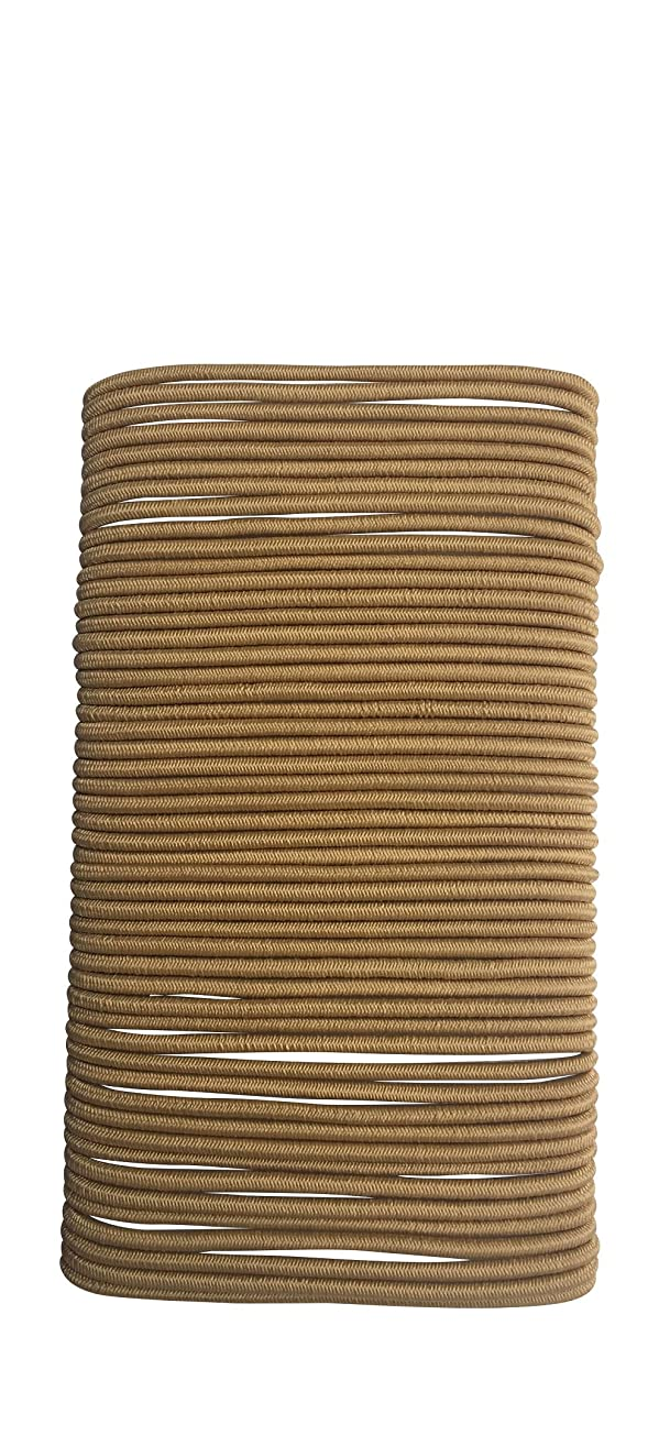 Falcon Claws No Metal Hair Elastics Ties Ponytail, 250 count, 5 Pack of 50,Thin 2mm (HE2) (Blonde)