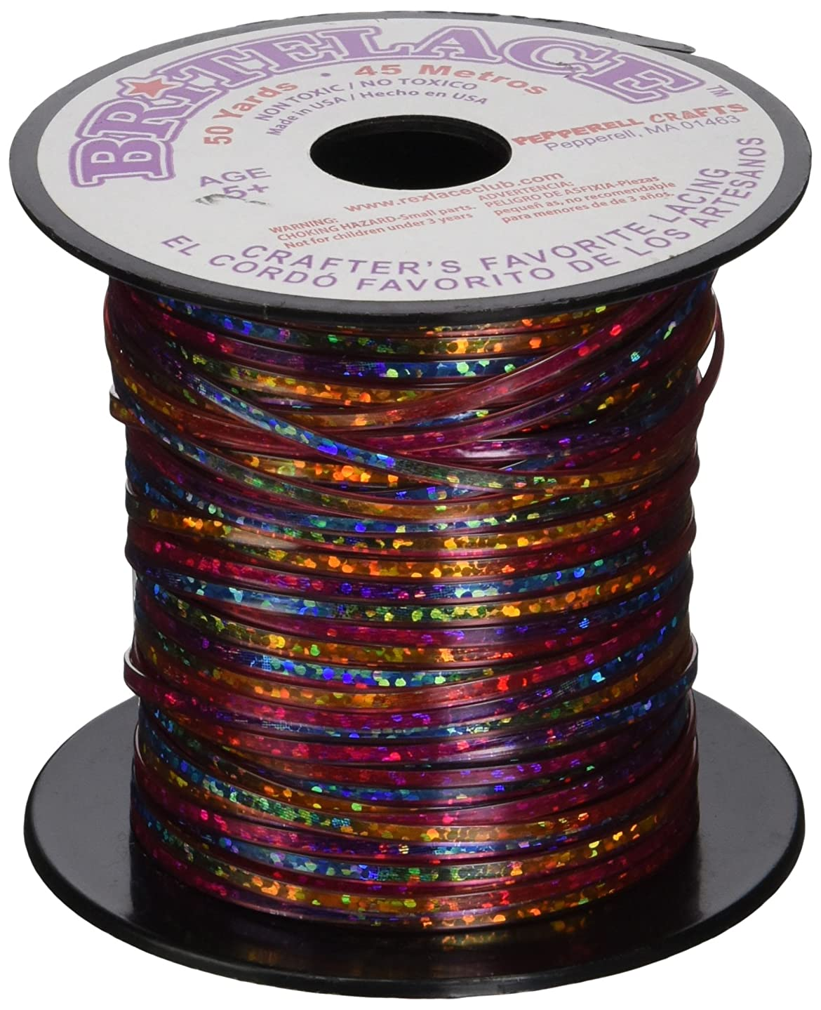 Pepperell RBS5011 Tie Dye Rexlace Plastic Lacing, 0.938