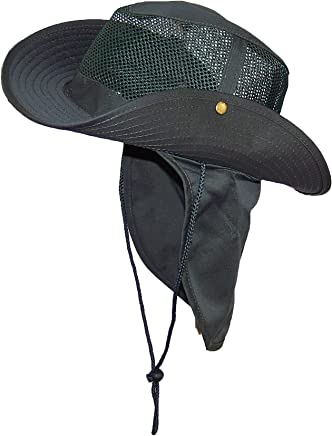 2a2e857980c Wide Brim Men Safari Outback Summer Hat With Neck Flap (Small