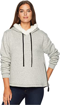 Statement Sherpa Pullover with Zipper and Black Trim