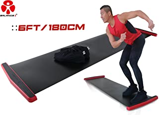 バランスワン スライドボード スライダーボード スライディングボード 最新 EX 180cm 230cm 2サイズ スライドディスク付き 2019 超豪華版 下半身強化 体幹トレーニング ダイエット 持ち運びやすい 滑り止めとボードが一体化