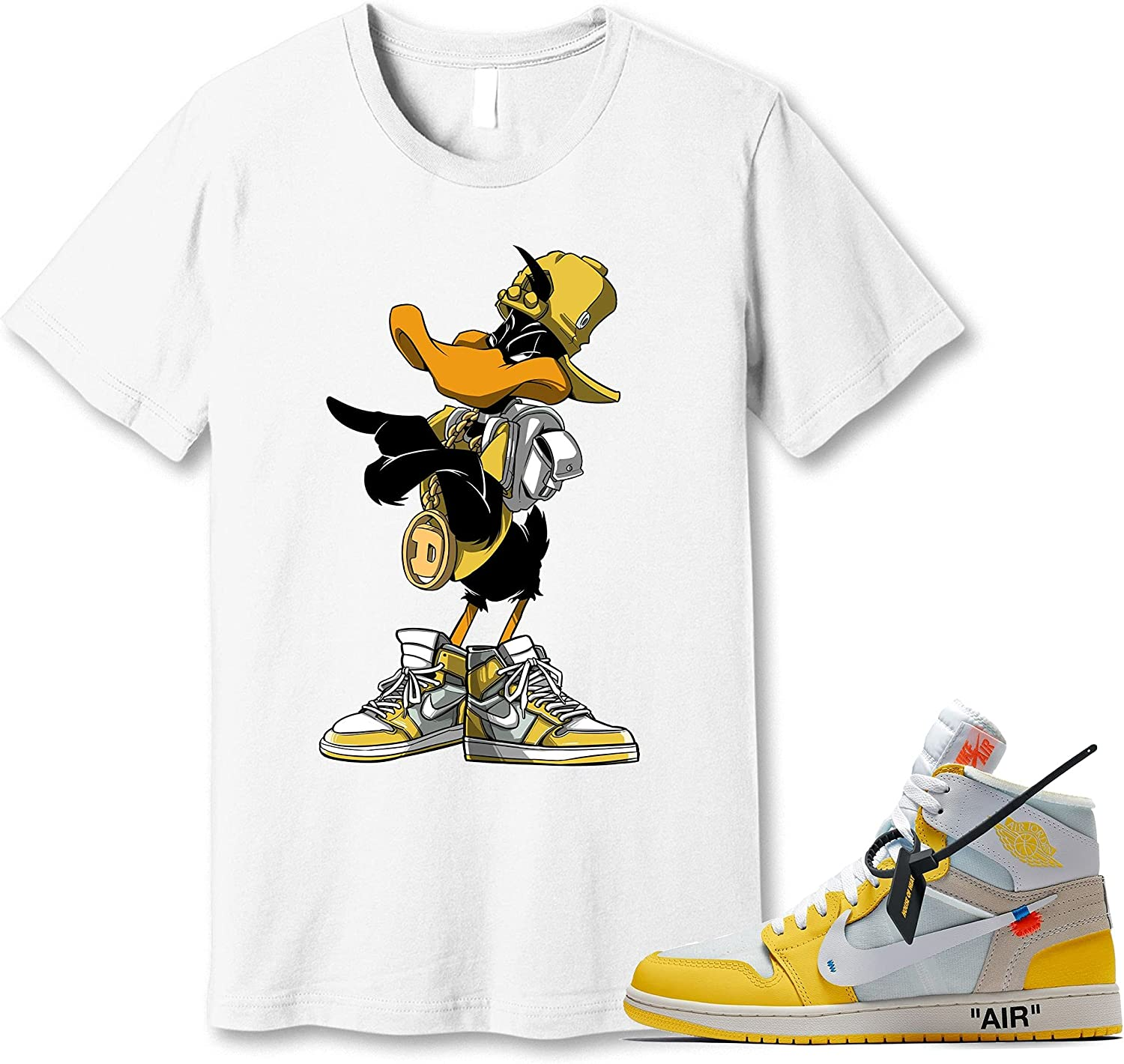 #Daffy #Duck White T-Shirt to 35% OFF Max 73% OFF Match Yellow Sneak Canary Jordan 1