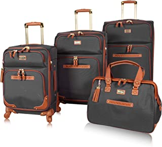 Steve Madden Luggage Set 4 Piece- Softside Expandable Lightweight Suitcase Set With 360 Spinner Wheels - Travel Set includ...