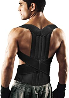 "Back Brace Posture Corrector for Women and Men Back Lumbar Support Shoulder Posture Support for Improve Posture Provide and Back Pain Relief (27.5""-49.5"") Waist-L"