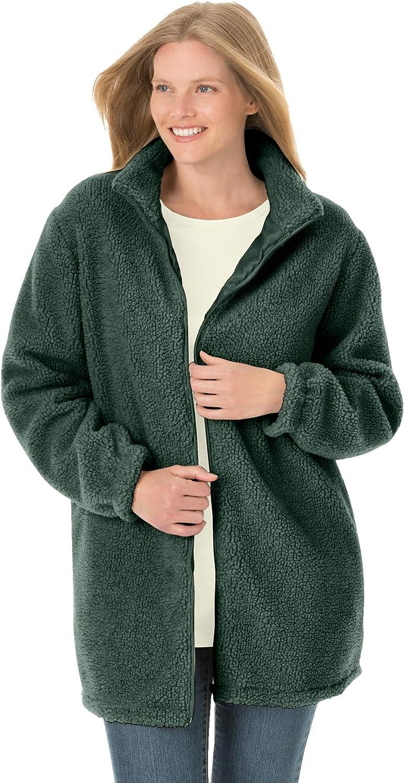 Woman Within Women's Plus Size Jacket In Berber Fleece