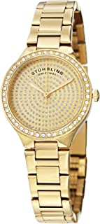 Stuhrling Original Symphony 683 Women's Gold Dial Stainless Steel Band Watch - 683.03