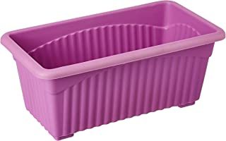 First Smart Plastic Rectangle Pot (Purple, Pack of 3)