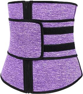 Sekluxy Womens Body Shaper Tummy Control Corset Zipper Waist Trainer Cincher