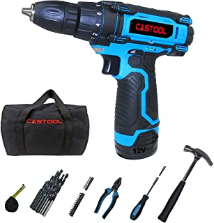 Sponsored Ad – 12V Cordless Compact Drill with 1.3Ah Lithium-ion Battery 10mm(3/8'') Chuck (18+1) Torque Setting with LED ...
