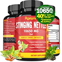Organic Stinging Nettle Root Extract Capsules 10650MG, Highest Potency Plus Health Complex | Prostate Health Supplements f...