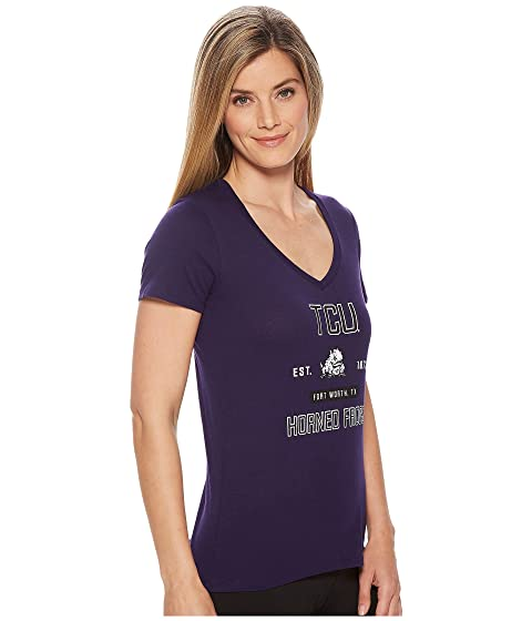 Champion College TCU Horned Frogs University V-Neck Tee Champion Purple Get To Buy Cheap Price Free Shipping Hot Sale Clearance Get Authentic Discount Prices hAjy0RifjF