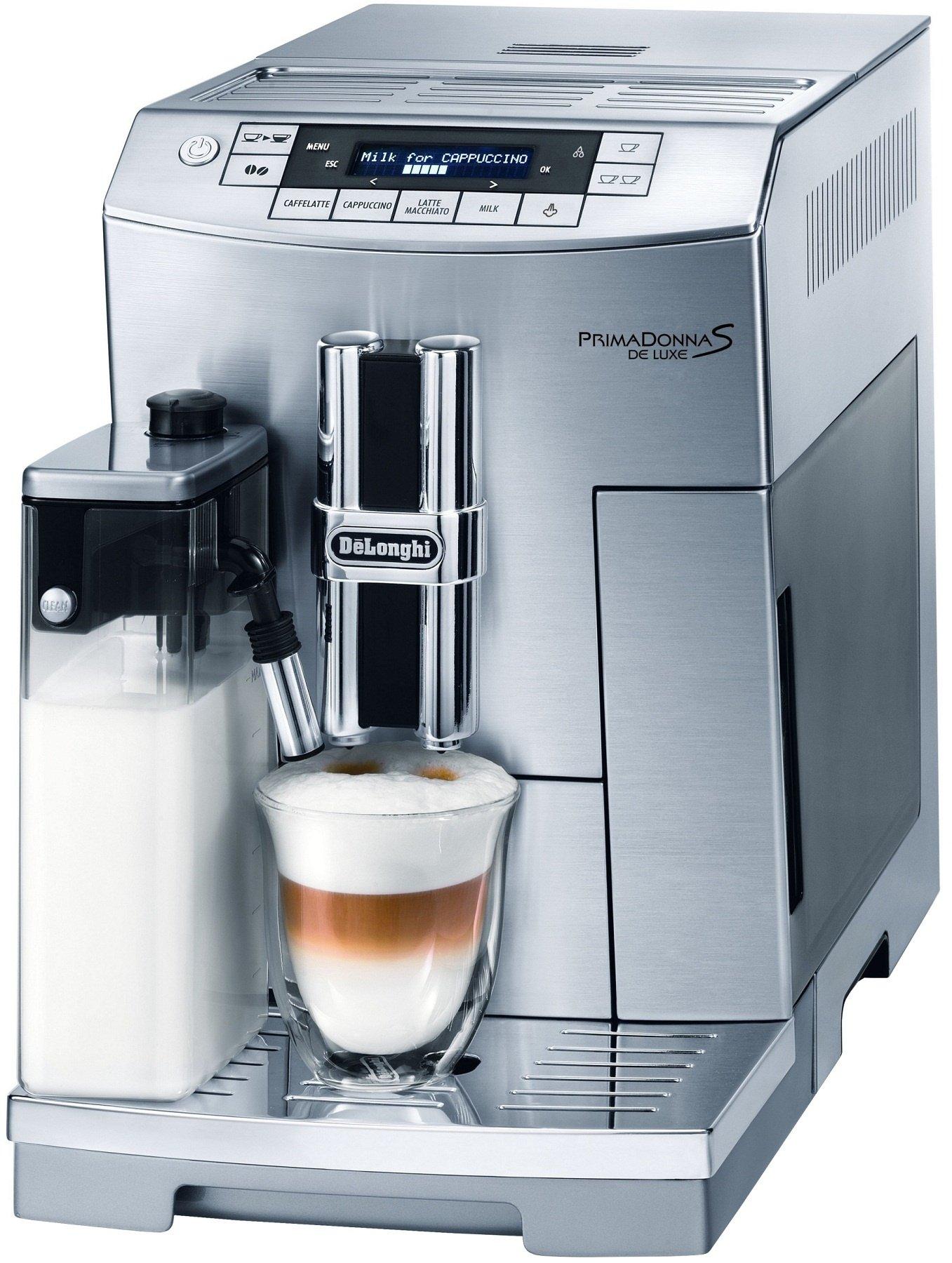 DeLonghi ECAM26455 Máquina espresso 2L 2tazas Plata - Cafetera (Máquina espresso, 2 L, Molinillo integrado, 1450 W, Plata): Amazon.es: Hogar