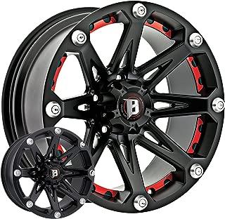 Ballistic Jester 814 20x9 Flat Black w/Optional Red Inserts / 5-5(127) Bolt Pattern / -12mm Offset / 83.7mm Hub Bore