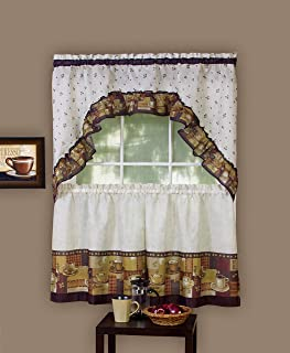 Best coffee cup kitchen curtains Reviews