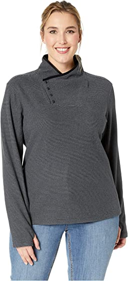 Plus Size Blacktail Fleece Snap-Neck Pullover