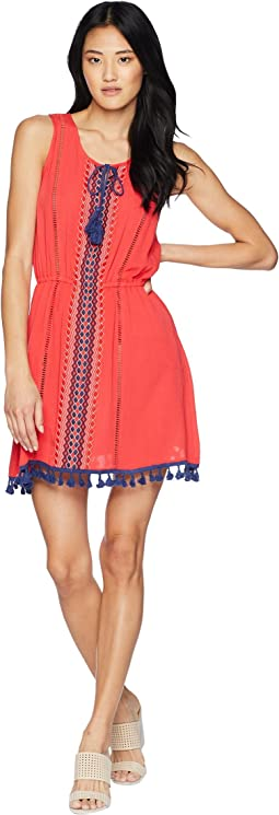 Catelya Dress with Contrast Trim