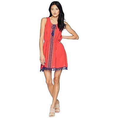 Jack by BB Dakota Catelya Dress with Contrast Trim (Hibiscus Red) Women