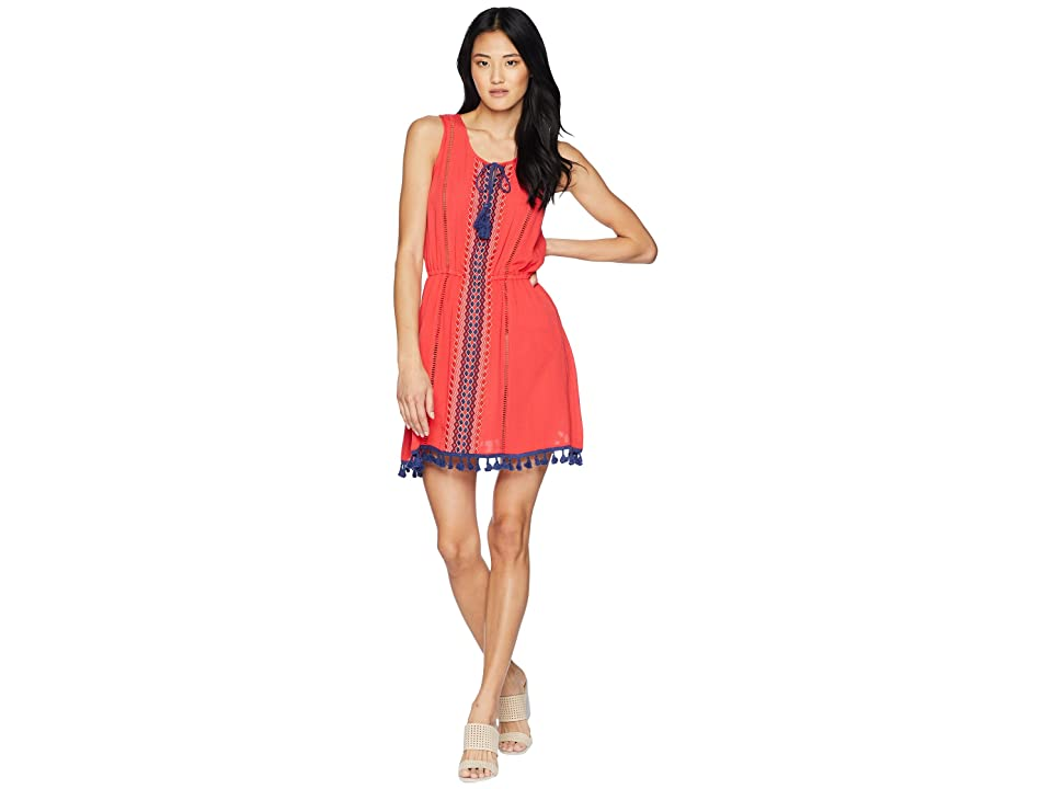 Jack by BB Dakota Catelya Dress with Contrast Trim (Hibiscus Red) Women