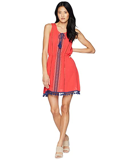 JACK BY BB DAKOTA Catelya Dress With Contrast Trim, Hibiscus Red