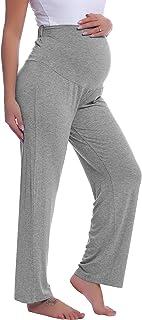 Joyaria Womens Maternity Over The Belly Bootcut Yoga/Lounge/Pajama/Sleep Pants