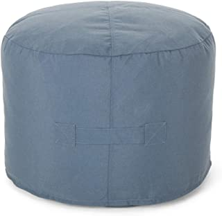 Christopher Knight Home Tammy Indoor Water Resistant 2' Ottoman Pouf, Blue