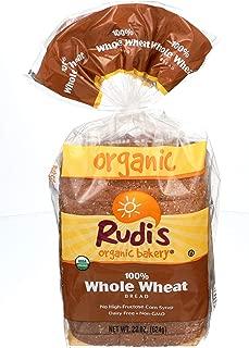 RUDIS Bread 100% Whole Wheat Organic, 22 oz (frozen)