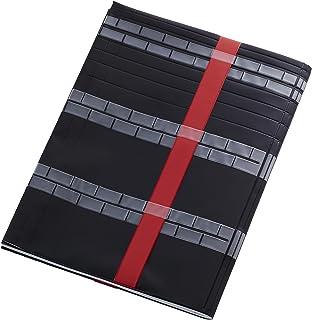 B5~A4~B4、その他変形の大判書籍に対応!フリーサイズ雑誌&ノート&絵本カバー[オルフラット]ブラック(不透明)