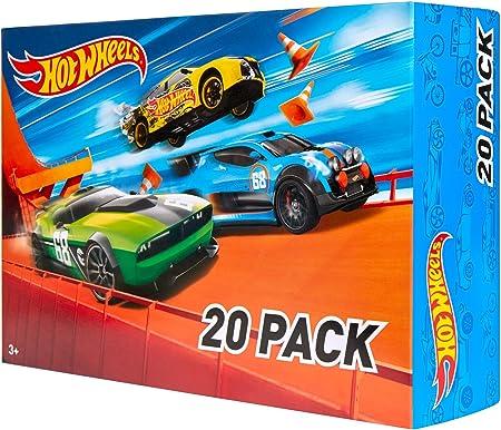 אריזת מתנה של 20 מכוניות משחק מבית Hot Wheels (סגנונות עשויים - DXY59