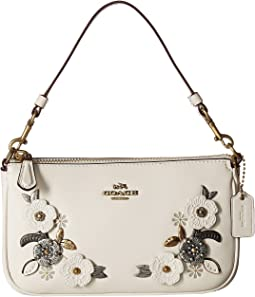 COACH Metal Tea Rose Detail Nolita Wristlet 19