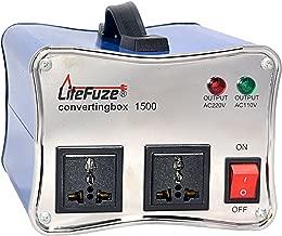 LiteFuze convertingbox 1500-Blue 1500 Watt Auto Voltage Converter Transformer - Light Weight -...