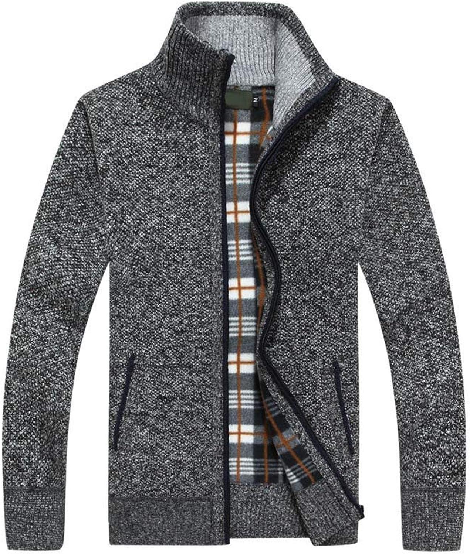 Men's Sweaters Cardigan Autumn Winter Warm Cashmere Wool Zipper Knitwear Sweatercoat