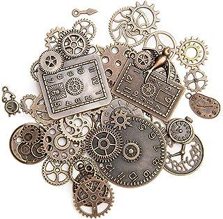 KIMI-HOSI 40 Pièces Vintage Steampunk Engrenages Metal Gears Horloge Montre Roues Pendentif Charms Gears Bijoux de Bricola...