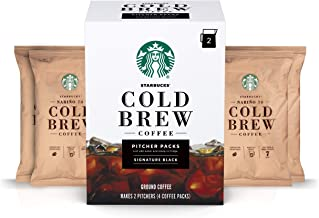 Starbucks Cold Brew Coffee — Signature Black — Pitcher Packs — 3 boxes (makes 6..