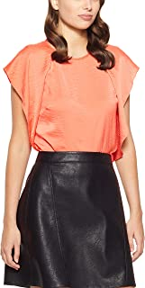 Oxford Women's Canada Ruffle TOP, Soft Tangerine