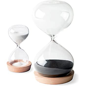 5//10//30//60 Minutes Glass Sand egg Timer clock hourglass home decor holiday gift