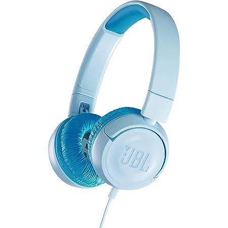 JBL JR300 子供向け ヘッドホン 音量制御機能搭載/カスタマイズシール付属 クリアブルー JBLJR300BLU 【国内正規品/メーカー1年保証付き】