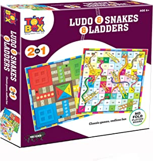 Toys Box 2 In 1 Ludo Snakes And Ladder - 6 Years & Above
