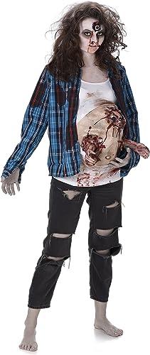 Deluxe Pregnant Zombie Baby Ladies Fancy Dress Halloween damen Adults Costume
