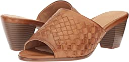 Cognac Woven Leather