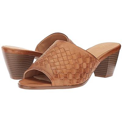 Trotters Corsa (Cognac Woven Leather) Women