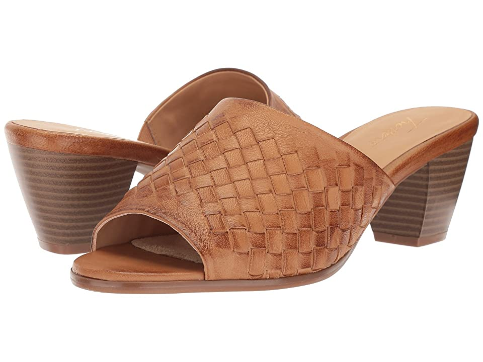 d057cb63219b Trotters Corsa (Cognac Woven Leather) Women s 1-2 inch heel Shoes. On sale  ...