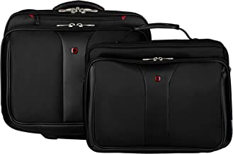 Wenger Luggage Patriot Rolling 2 Piece Business Set, Black