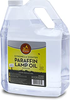 Citronella Scented Lamp Oil, 1 Gallon - Smokeless and Odorless Insect and Mosquito Repellent Paraffin Lamp Oil for Indoor and Outdoor Lanterns, Torches, Oil Candle - by Ner Mitzvah