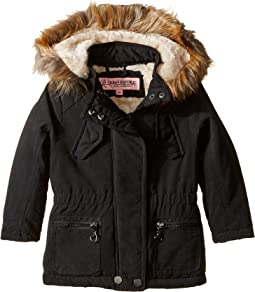 Peach-Finish Microfiber Jacket w/ Detachable Faux Fur Hood (Toddler)